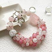 """Украшения ручной работы. Ярмарка Мастеров - ручная работа Браслет """"Розовый фламинго"""". Handmade."""