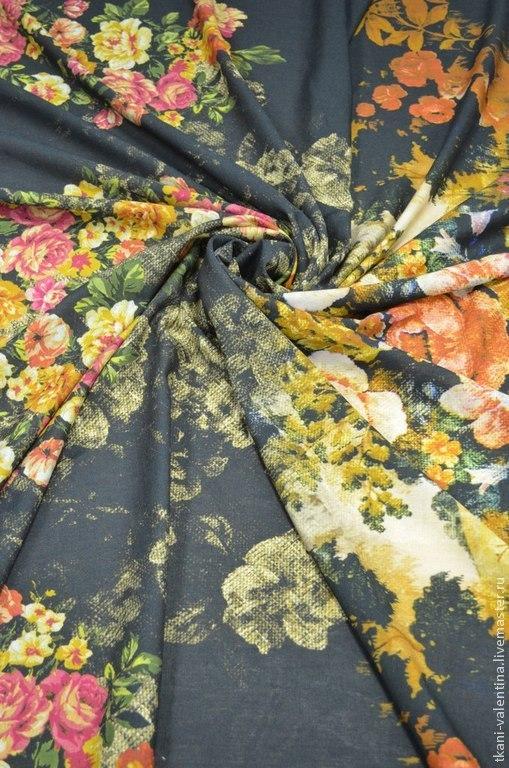 Шитье ручной работы. Ярмарка Мастеров - ручная работа. Купить Ткань плательно-костюмная. Handmade. Ткань, ткани Италии, вискоза