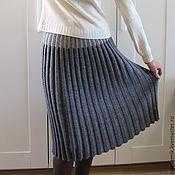 Одежда ручной работы. Ярмарка Мастеров - ручная работа Юбка-гофре вязаная. Handmade.