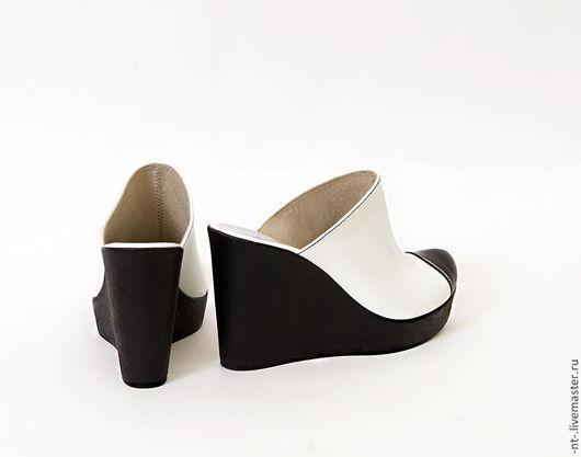 Обувь ручной работы. Ярмарка Мастеров - ручная работа. Купить Сабо Терминус. Handmade. Чёрно-белый, интересная обувь