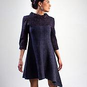 """Одежда ручной работы. Ярмарка Мастеров - ручная работа валяное платье """"shades of blue"""". Handmade."""