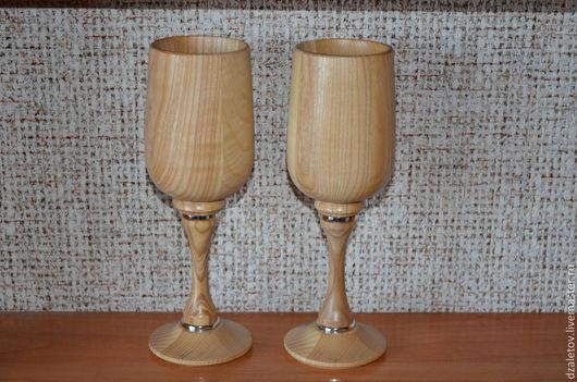 Бокалы, стаканы ручной работы. Ярмарка Мастеров - ручная работа. Купить Бокалы для шампанского. Handmade. Бежевый, посудная лавка