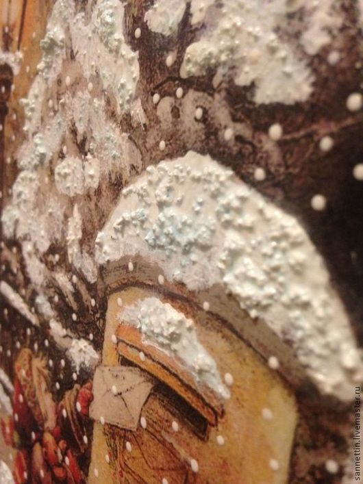 Пейзаж ручной работы. Ярмарка Мастеров - ручная работа. Купить Письмо Деду Морозу. Handmade. Декупаж, акриловые краски, Снег