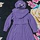 """Одежда для девочек, ручной работы. Ярмарка Мастеров - ручная работа. Купить Вязаное пальто и берет для девочки """"Сиреневый туман"""". Handmade."""
