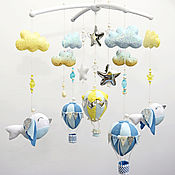 Для дома и интерьера handmade. Livemaster - original item Baby Mobile out of felt