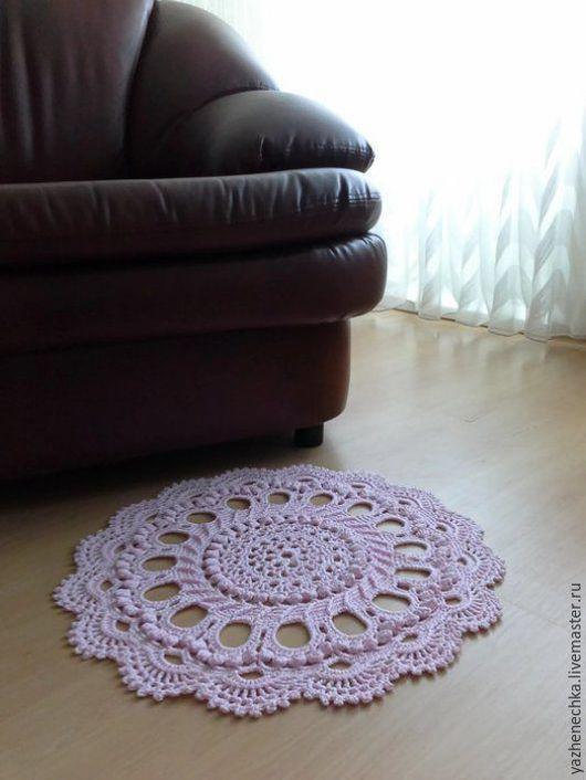 Текстиль, ковры ручной работы. Ярмарка Мастеров - ручная работа. Купить Коврик ажурный вязаный для детской комнаты. Handmade. Коврик
