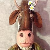 """Куклы и игрушки ручной работы. Ярмарка Мастеров - ручная работа игрушка Коровка """"Буренка Маруся"""". Handmade."""