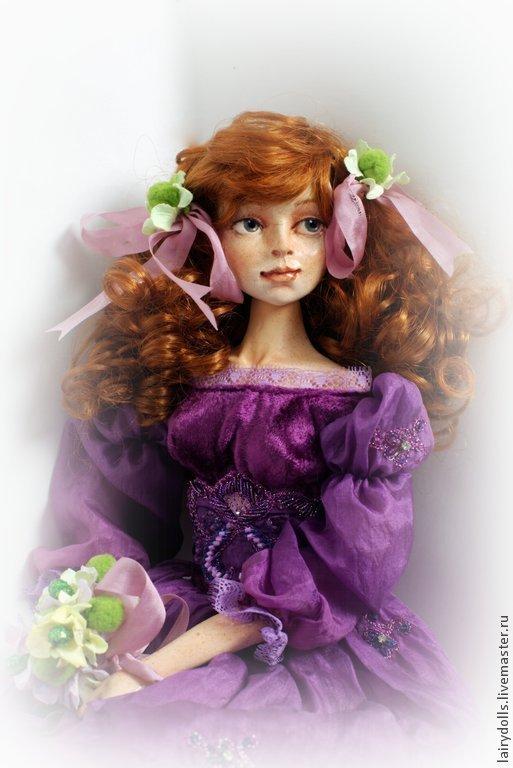 Коллекционные куклы ручной работы. Ярмарка Мастеров - ручная работа. Купить Балерина Фантазерка - Кукла подружка из сказки. Handmade. Брусничный
