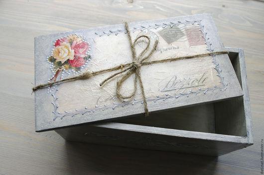 Шикарная винтажная шкатулка стилизованная под почтовую посылку для хранения милых сердцу вещей. Отличный подарок на день рождения или другой праздник.