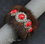Украшения handmade. Livemaster - original item Bracelet made of mink and coral