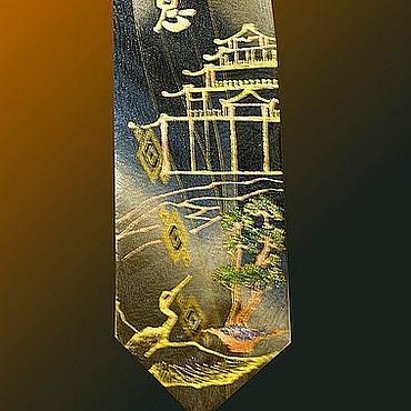 Аксессуары ручной работы. Ярмарка Мастеров - ручная работа Исполнение желаний, золото, галстук - талисман. Handmade.