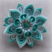Работы для детей, handmade. Livemaster - original item Hair bands Mint breeze in the technique of kanzashi. Handmade.