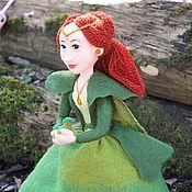 Куклы и игрушки ручной работы. Ярмарка Мастеров - ручная работа Кукла войлочная Медной Горы Хозяйка. Handmade.