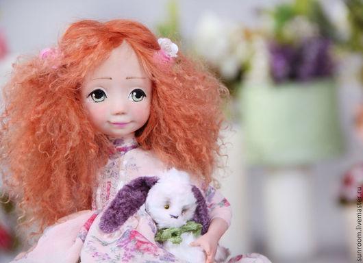 """Коллекционные куклы ручной работы. Ярмарка Мастеров - ручная работа. Купить Авторская кукла """"Sophy"""". Handmade. Doll, комодик, оранжевый"""