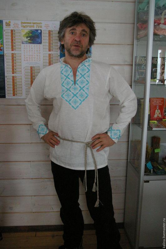 """Одежда ручной работы. Ярмарка Мастеров - ручная работа. Купить Рубаха мужская """"Праздничная-2"""". Handmade. Белый, славянские мотивы"""