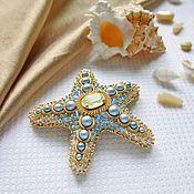 Brooches handmade. Livemaster - original item Brooch beaded starfish. Handmade.