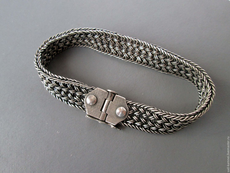 Мужские браслеты на руку из серебра купить в москве