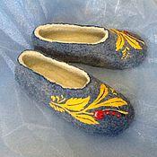 """Обувь ручной работы. Ярмарка Мастеров - ручная работа Тапочки """" смородина """". Handmade."""