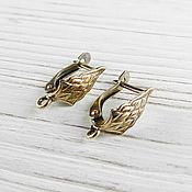 Материалы для творчества handmade. Livemaster - original item Earrings with locking bronze brass (art. 2639). Handmade.