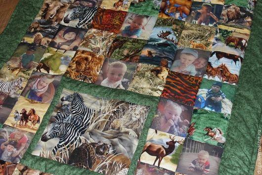 Пледы и одеяла ручной работы. Ярмарка Мастеров - ручная работа. Купить Детское одеяло с фотографиями «Маугли» № 329. Handmade.