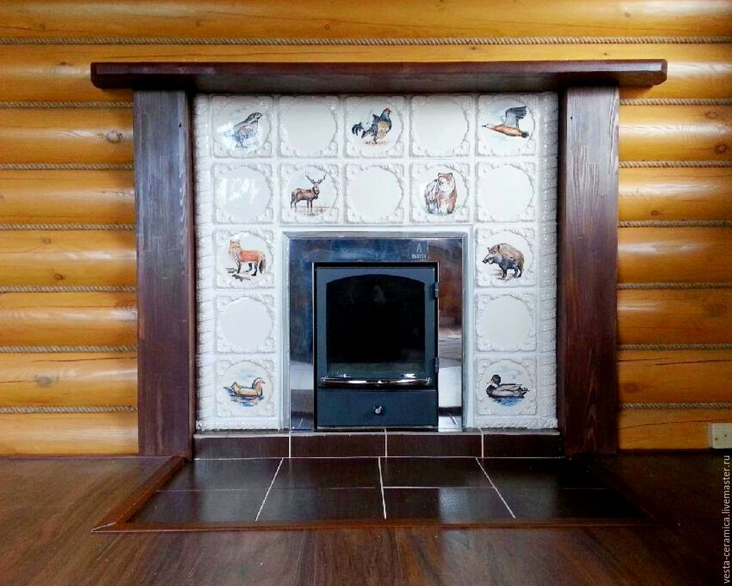 Portal for oven 'wood fairy tale', Fireplaces, Moscow,  Фото №1