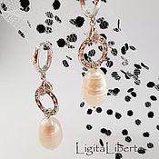 Украшения handmade. Livemaster - original item Earrings with pearl & Swarovski. Handmade.