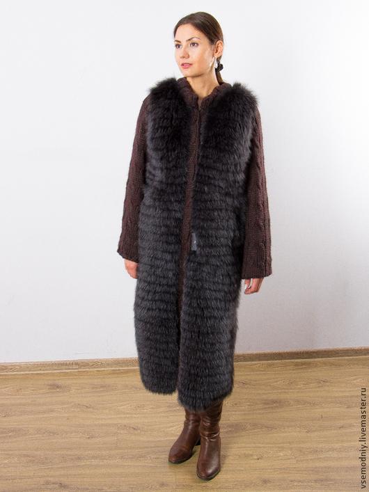 Верхняя одежда ручной работы. Ярмарка Мастеров - ручная работа. Купить Пальто из шерсти с мехом - 25% скидка. Handmade. Шуба