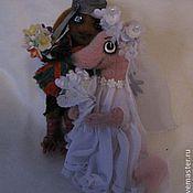 Куклы и игрушки ручной работы. Ярмарка Мастеров - ручная работа Шнырёк и зверюшка Сос. Handmade.