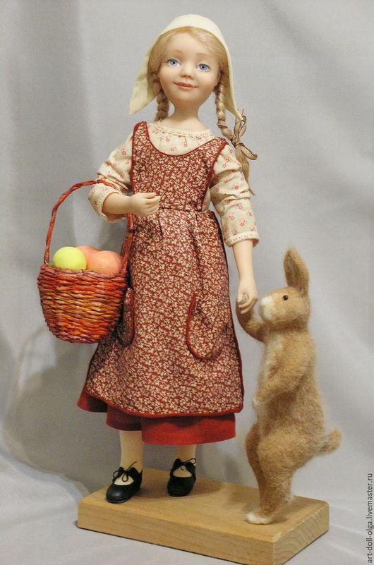 """Коллекционные куклы ручной работы. Ярмарка Мастеров - ручная работа. Купить Коллекционная авторская кукла """"Заинька, ну пойдем!"""". Handmade."""