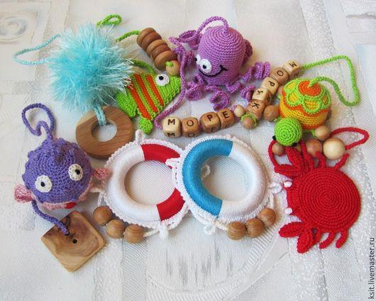 Развивающие игрушки ручной работы. Ярмарка Мастеров - ручная работа. Купить развивающая игрушка - грызунок - погремушка. Handmade. Развивающая игрушка