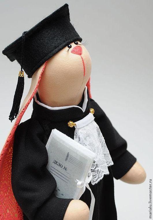 Куклы Тильды ручной работы. Ярмарка Мастеров - ручная работа. Купить Зая-тильда судья. Handmade. Бежевый, подарок подруге