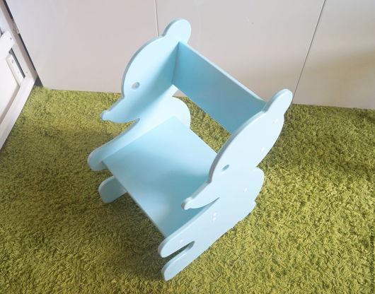 """Детская ручной работы. Ярмарка Мастеров - ручная работа. Купить Детский стульчик """"Мишка"""". Handmade. Голубой, детский стол"""