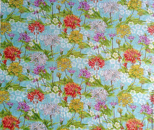 Шитье ручной работы. Ярмарка Мастеров - ручная работа. Купить Ткань хлопок полевые цветы. Handmade. Пэчворк, ткань хлопок