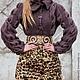 """Верхняя одежда ручной работы. Пальто """"Леопардовый какао"""". Елена Velena. Интернет-магазин Ярмарка Мастеров. Коричневый, леопард"""