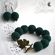 Украшения handmade. Livemaster - original item The set of threads the Bracelet and Earrings in