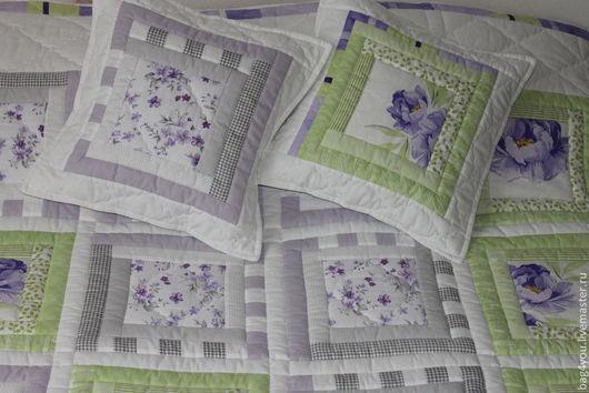 """Текстиль, ковры ручной работы. Ярмарка Мастеров - ручная работа. Купить Лоскутное покрывало-одеяло """"Сиреневые мечты """". Handmade."""