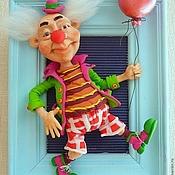 """Куклы и игрушки ручной работы. Ярмарка Мастеров - ручная работа Кукла в раме """" Клоун"""". Handmade."""