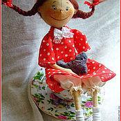 Куклы и игрушки ручной работы. Ярмарка Мастеров - ручная работа девочка с котенком. Handmade.
