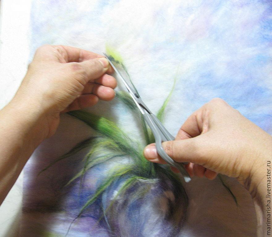 пошаговая инструкция по рисованию шерстью