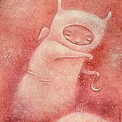 Картины и панно ручной работы. Ярмарка Мастеров - ручная работа Сеятель звезд над Одиноким Холмом. Авторский принт. Handmade.