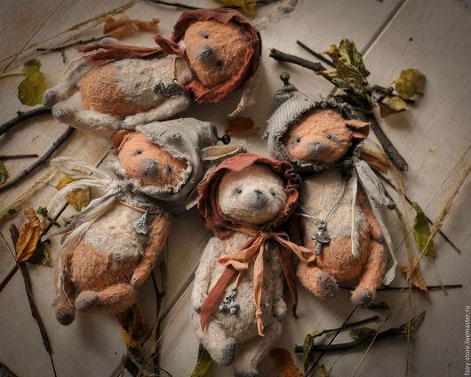 Мишки Тедди ручной работы. Ярмарка Мастеров - ручная работа. Купить Лесная Братва. Handmade. Бежевый, зайка тедди