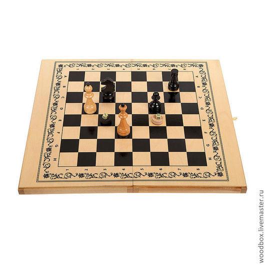 Персональные подарки ручной работы. Ярмарка Мастеров - ручная работа. Купить шахматы-шашки-нарды 3 в 1 подарочные 63 см. на 63 см.. Handmade.