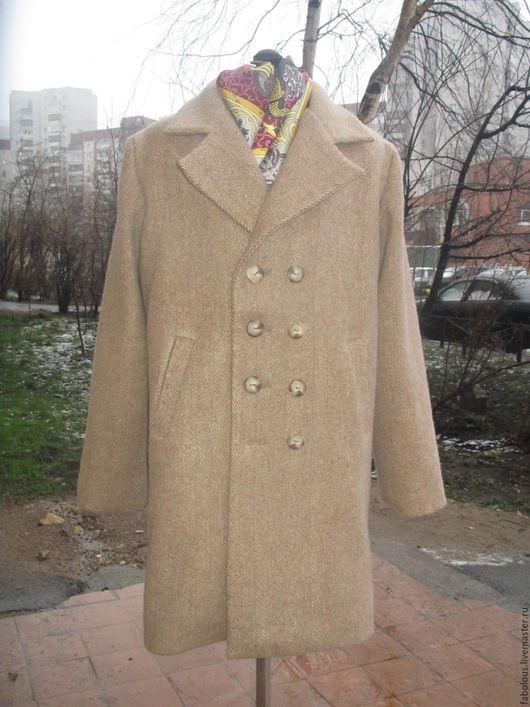 """Одежда для мальчиков, ручной работы. Ярмарка Мастеров - ручная работа. Купить Пальто  двубортное """"Даня"""". Handmade. Бежевый, полупальто"""