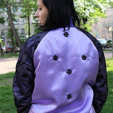 Одежда ручной работы. Ярмарка Мастеров - ручная работа Куртки: ФИАЛКА. Handmade.