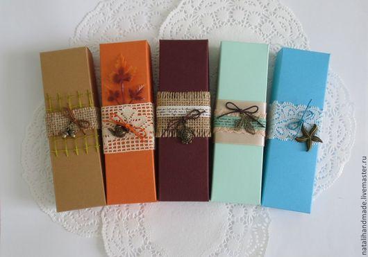 Персональные подарки ручной работы. Ярмарка Мастеров - ручная работа. Купить Подарочные коробочки для закладок. Handmade. Коробочка, упаковка подарочная