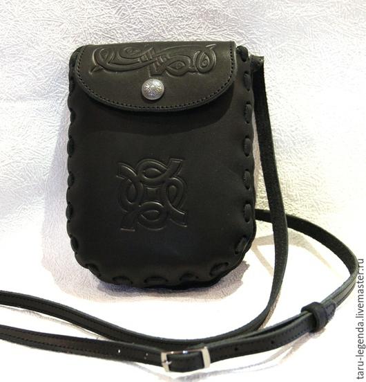 Органайзеры для сумок ручной работы. Ярмарка Мастеров - ручная работа. Купить Сумочка нагрудная для документов - чёрная. Handmade. Черный