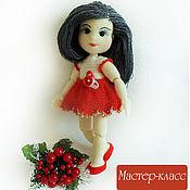 Куклы и игрушки ручной работы. Ярмарка Мастеров - ручная работа Мастер-класс по вязанию шарнирной куклы Кристина. Handmade.