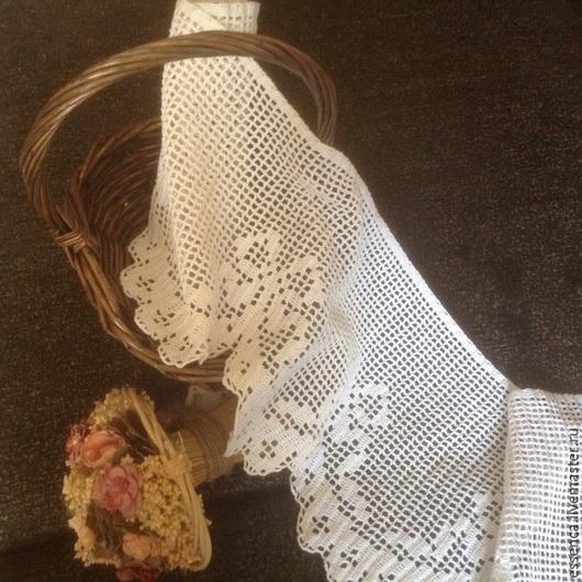 Текстиль, ковры ручной работы. Ярмарка Мастеров - ручная работа. Купить Штора занавеска для кухни Бантики филейное вязание крючком. Handmade.