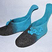 Тапочки ручной работы. Ярмарка Мастеров - ручная работа Тапочки женские валяные Тапочки валяные Обувь женская. Handmade.