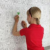 Материалы для творчества handmade. Livemaster - original item paper for drawing: Wallpapers-coloring